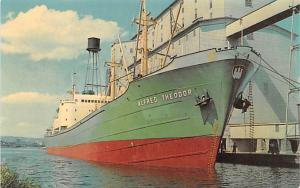 Freight Ship Postcard Old Vintage Antique Post Card Alfred Theodor from Hambu...