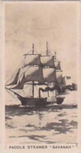 Carreras Vintage Cigarette Card Notable Ships 1929 No 20 Paddle Steamer  Sava...