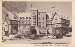 URBANA, Illinois, 1900-1910's; Urbana Lincoln Hotel, Classic Cars