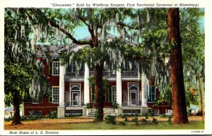 Mississippi Natchez Gloucester Home Of L S Stanton Curteich