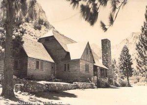 Glacier Lodge, Glacier National Park Montana Real Photo RPPC Vintage Postcard