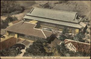Hot Spring Tea House Japan - Used c1910 Postcard Stamp/Cover