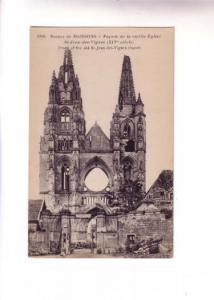 B&W Church War Ruins, Soissons, France