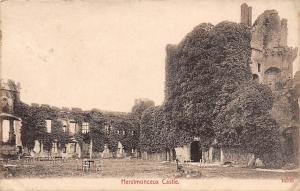 England Herstmonceux Castle, Garden, terrace 1920s