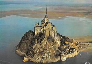 France La Manche, Mont Saint Michel, Vue aerienne, Air view