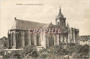 Old Postcard Colmar La Cathedrale Saint Martin