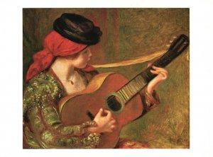 Vintage Postcard National Gallery of Art Girl Playing Guitar Washington DC
