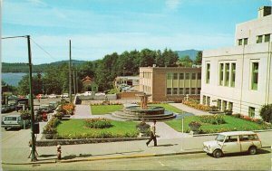 Prince Rupert BC City Hall Flower Gardens Federal Building Postcard G70