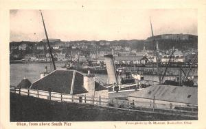 Scotland, UK Old Vintage Antique Post Card Oban, from above South Pier Unused