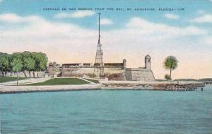 Florida Saint Augustine Castilld De San Marcos From The Bay