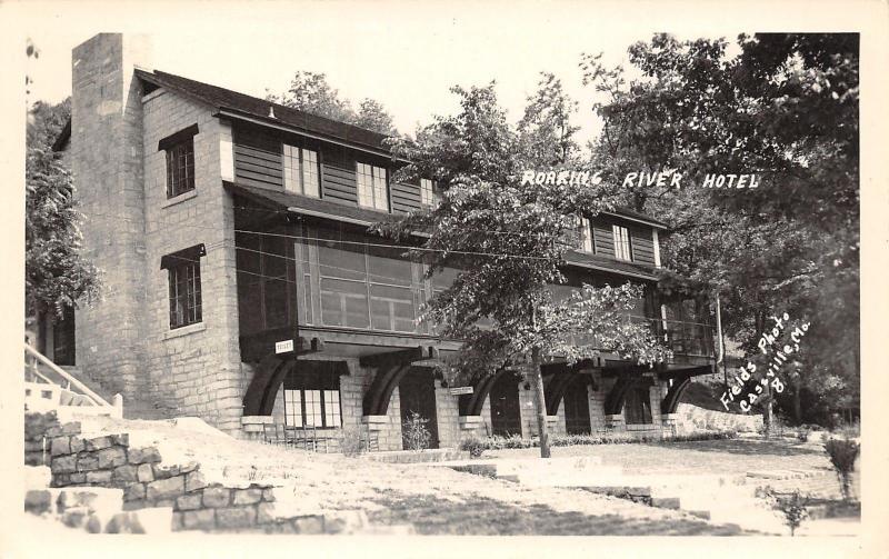 Cville Missouri Roaring River Hotel Toilet Signs 3 Story Lodge 1949 Rppc
