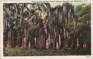 Ruins Of Old Sheldon Church Between Beaufort And Walterboro South Carolina
