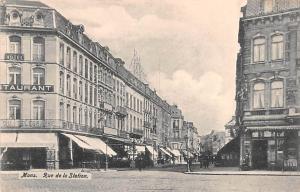 Mons Belgium, Belgique, Belgie, Belgien Rue de la Station Mons Rue de la Station