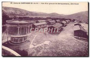 Old Postcard Chateau d & # 39eau Camp Carpiagne View d & # 39un barracks West...