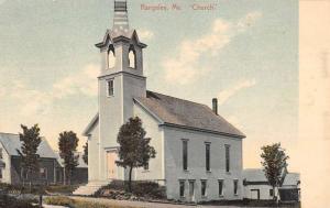 Rangeley Maine Church Scene Street View Antique Postcard K101316