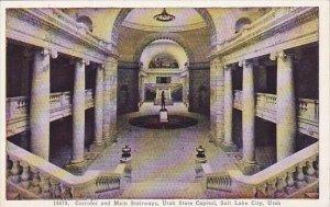 Corridor And Main Stairways Utah State Capitol Salt Lake City Utah