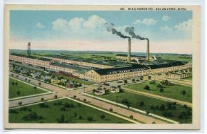 King Paper Mill Co Kalamazoo Michigan 1920c postcard