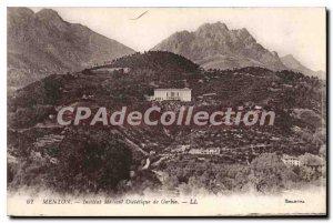 Old Postcard Menton Institute Of Medical Dittique Gorbio