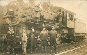Railroad, Train Engine 8759, RPPC