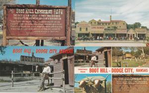 (4 cards) Boot Hill - Dodge City KS, Kansas