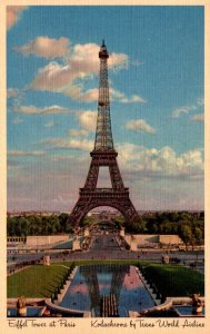 France Paris Eiffel Tower Trans World Airlines Card