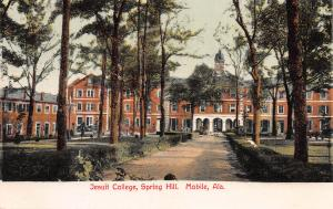 Jesuit College, Spring Hill, Mobile, Alabama, early postcard, Unused