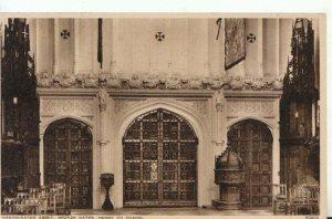London Postcard - Westminster Abbey, Bronze Gates, Henry VII Chapel - Ref 19411A