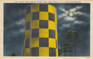 CAMP CROFT , South Carolina, 1945 ; Water Tank at night