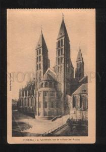 060223 BELGIUM Tournai La Cathedrale vue de la Place