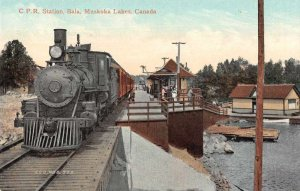 Bala Muskoka Lakes Canada CPR Train Station Vintage Postcard AA4177
