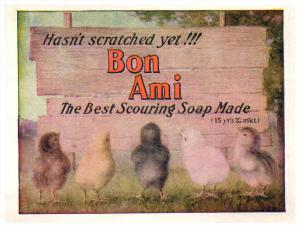 Bon Ami Scouring Soup  5 chicks  Trade Card