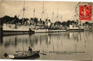 CPA ROCHEFORT-sur-Mer-Un Coin de l'Arsenal Croiseurs en réserve (45139)