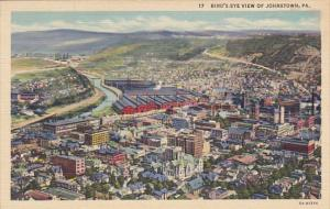 Birds Eye View Of Johnstown Pennsylvania Curteich