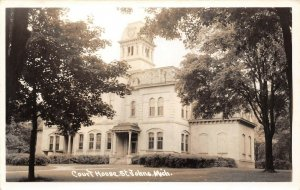 LP41 St. Johns  Michigan  Postcard RPPC Court House