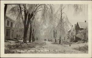 Wakefield MA Storm Damage nov 29 1921 Real Photo Postcard AVON ST.