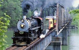 Trains -  Great Smoky Mountains Railway #1702  (mary jaynes series)