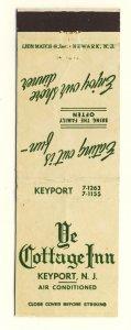 Keyport, New Jersey/NJ Match Cover, Ye Cottage Inn