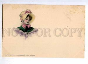 187148 Female Head Lady BELLE Vintage Wurtt Freytag PC