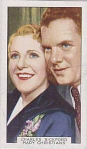 Gallaher Cigarette Card Film Partners No 31 Charles Brickford And Mady Christ...