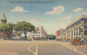 EVANSTON , Illinois, 30-40s; Looking North Fountain Square