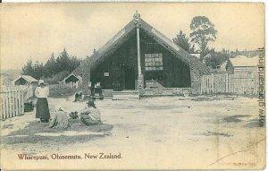 VINTAGE POSTCARD: NEW ZELAND - WHAREPUNI - OHINEMUTU