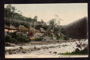 View of Houses SANMAYEBASHI YUMOTO Japan Postcard Carte Postale
