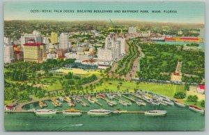 Miami Florida~Royal Palm Docks Biscayne Blvd & Bayfront Park~Vintage PC