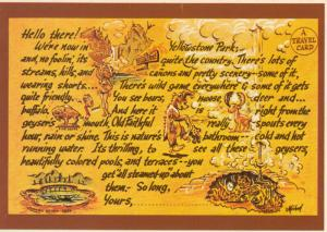 YELLOWSTONE NATIONAL PARK, 40-60s; Travel Card, Poem