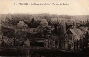 CPA FOUGERES - Le Chateau et St-Sulpice - Vue prise des Carrieres (298220)