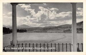 Pocatello Idaho Ross Park Golf Course Waterfront Antique Postcard K92949