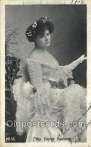 Miss Gaynor Rowlands Foreign Film Stars Old Vintage Antique Postcard Post Car...