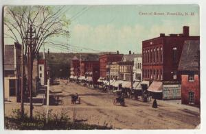 P792 1911 horse and wagons central street franklin new hampshire