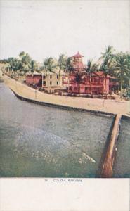 Panama Canal Scene At Colon