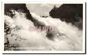 Postcard Old Der Rheinfall Von Den Felsen Aus Gesehen